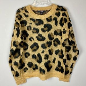 Leopard cheetah print sweater on trend